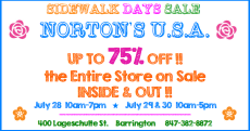 Sidewalk Days at Norton's U.S.A. @ Norton's U.S.A. |  |  |