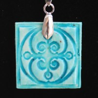 Tutorial Tuesday - Make a Faux Ceramic Polymer Clay Pendant