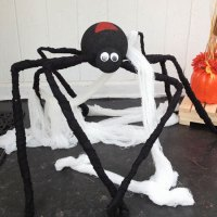giant porch spider for Halloween