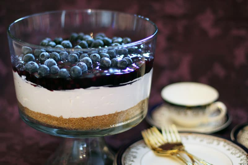 #120 - No Bake Blueberry Cheesecake