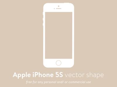 Apple iPhone 5S Vector Shape