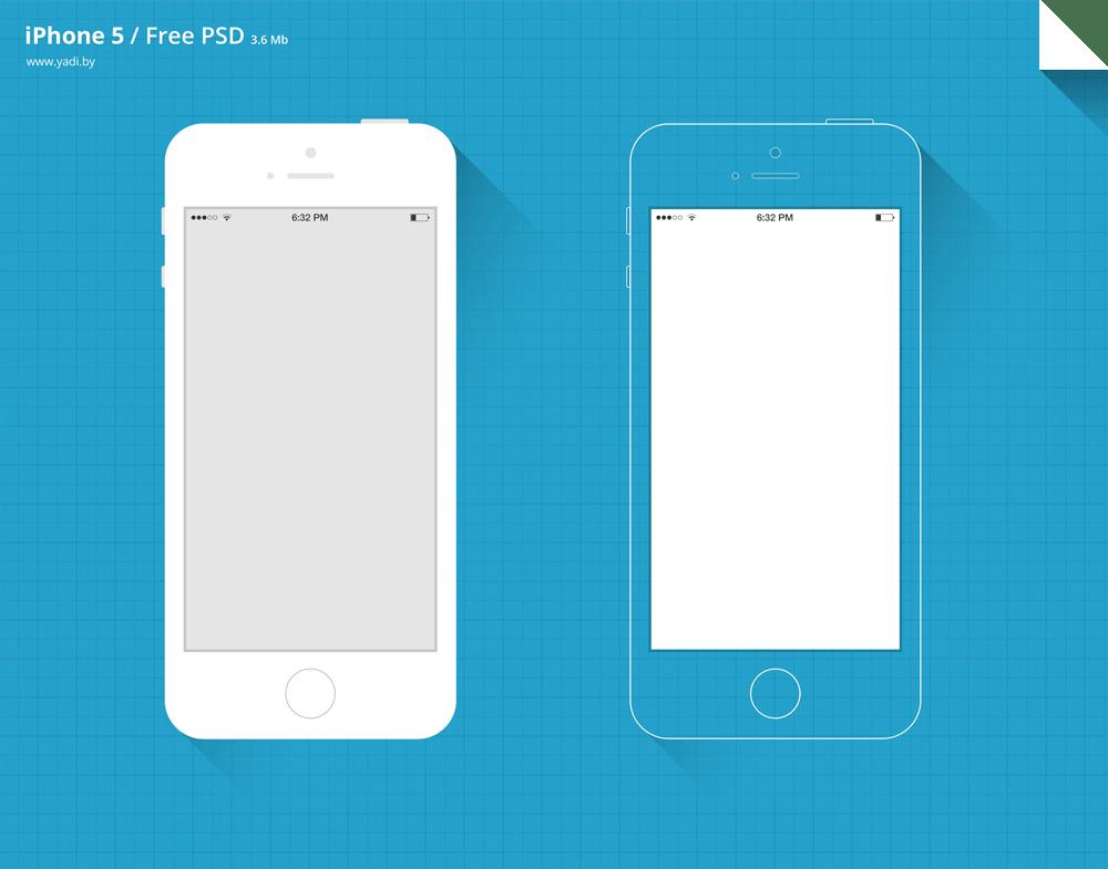 Free PSD iPhone 5