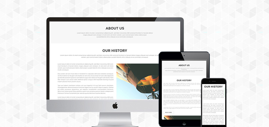 SINGLE PAGE PSD AND HTML TEMPLATE