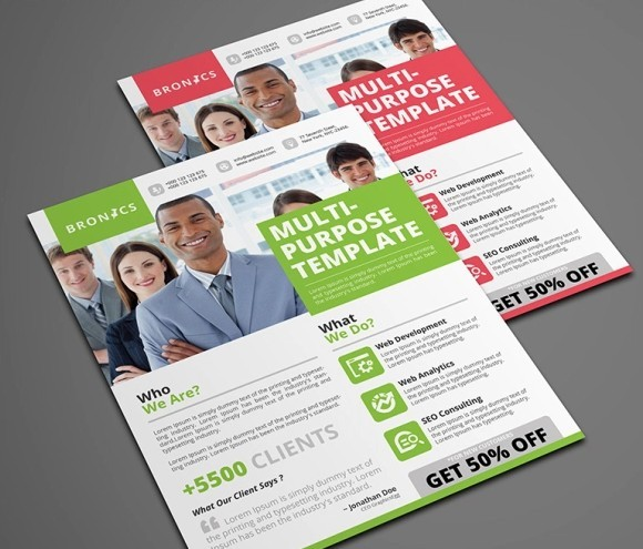 100  High Quality Free Flyer and Brochure Mock ups  2018 Edition     FREE Multipurpose Corporate Flyer Template