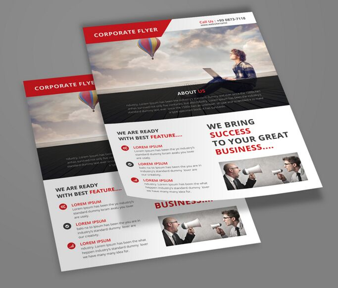 100  High Quality Free Flyer and Brochure Mock ups  2018 Edition     Free   Corporate Flyer Template