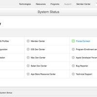Apple Developer System Status