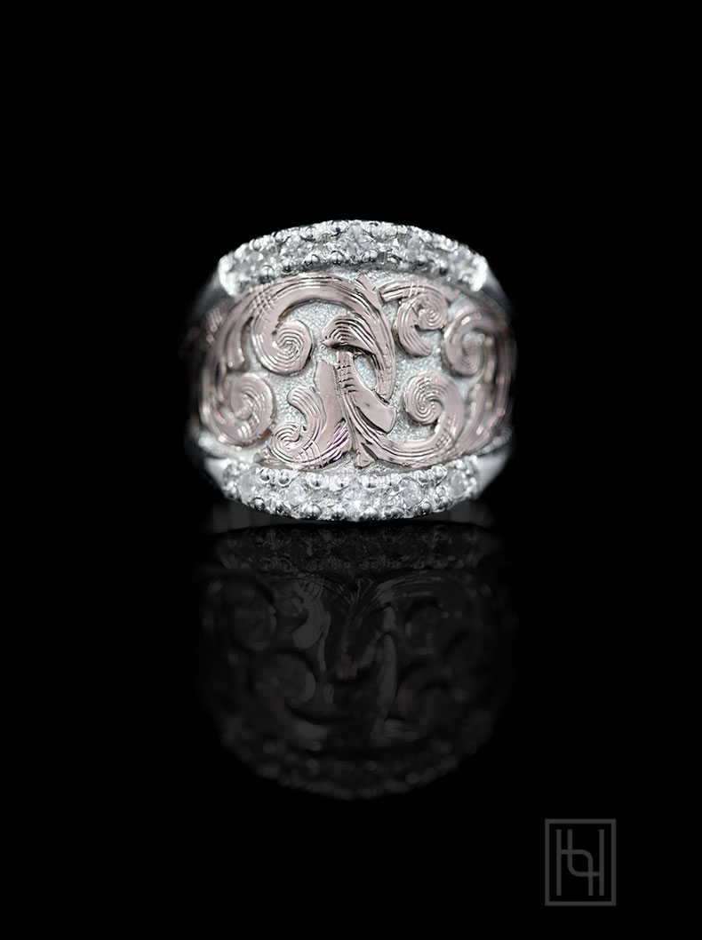 rings western style wedding rings Blush Sterling Statement Ring