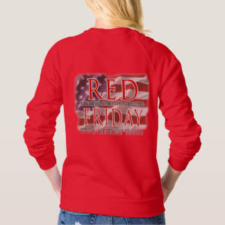RED Friday Patriotic Flag T-shirt