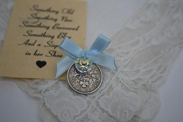 sixpence bruiloft blauw