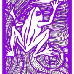 FROG1 purple & white