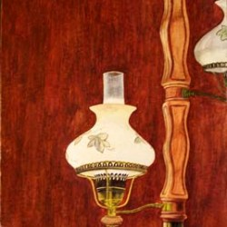 "Dry Brush Lamp 11"" x 14"""