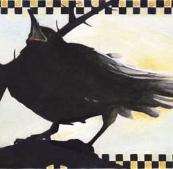 "Raven in the Thornbush 9"" x 13"""