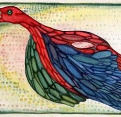 "Strange Bird 10.25"" x 7"""