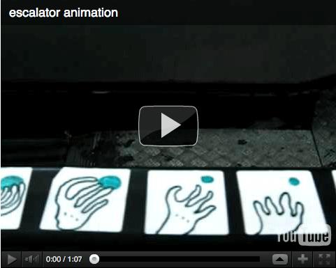 """Visualisierung einmal anders: Rolltreppeninstallation auf YouTube als """"Daumenkino"""""""