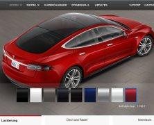 TESLA: Model S online konfigurieren