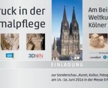 """3D-Druck Sonderschau: Denkmalpflege des Weltkulturerbes """"Der Hohe Dom zu Köln"""""""