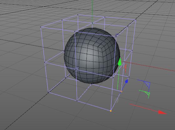 Colocar un deformador FFD dentro del objeto.