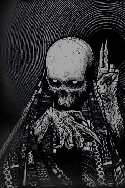 Light Skull Dark iPhone Wallpaper | 2019 3D iPhone Wallpaper