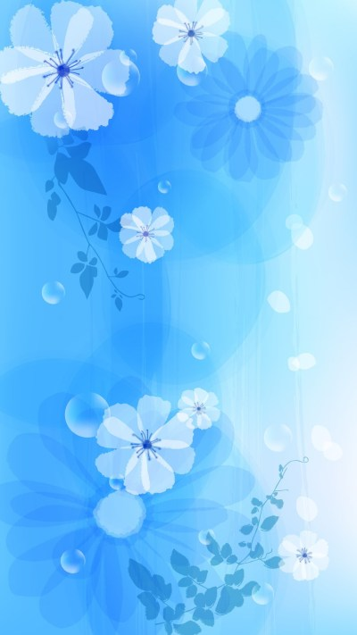 2018 Download Girly Blue iPhone Wallpaper Full Size - 3D iPhone Wallpaper
