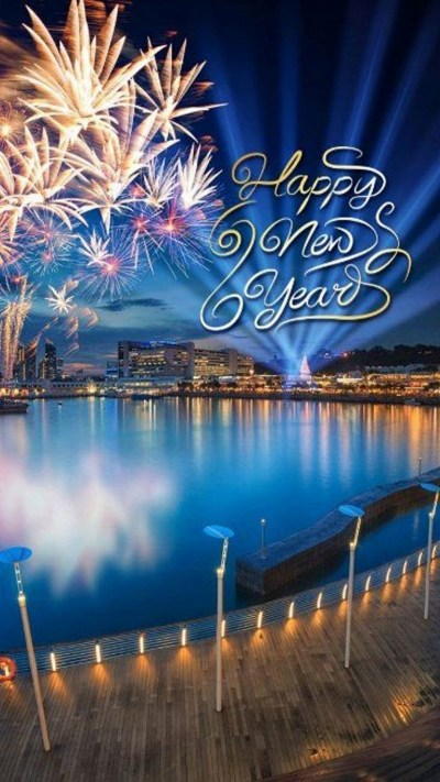 Download iPhone Wallpaper Happy New Year 2018 Full Size - 3D iPhone Wallpaper