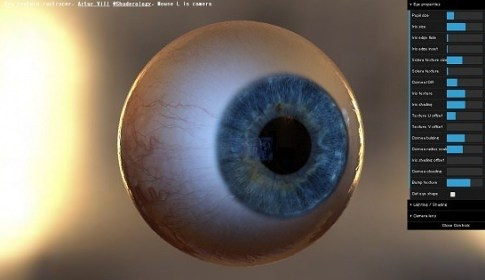 Eye Texture Raytracing Demo