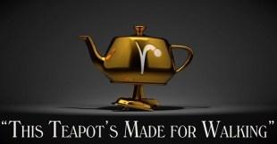 This Teapots Made for Walking - ティーポットが歩く!Pixar RenderManで制作された美しいプロモーション映像!