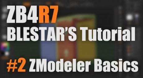 ZBrush4R7 新機能解説 #2 ZModeler Basics - 1時間半の大ボリューム!Pixologic公認インストラクター「BLESTAR」氏による4R7の新機能解説動画第2弾!