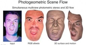Photogeometric Scene Flow for High-Detail Dynamic 3D Reconstruction - 高速点滅する照明を使ったディズニーの3Dスキャン技術!