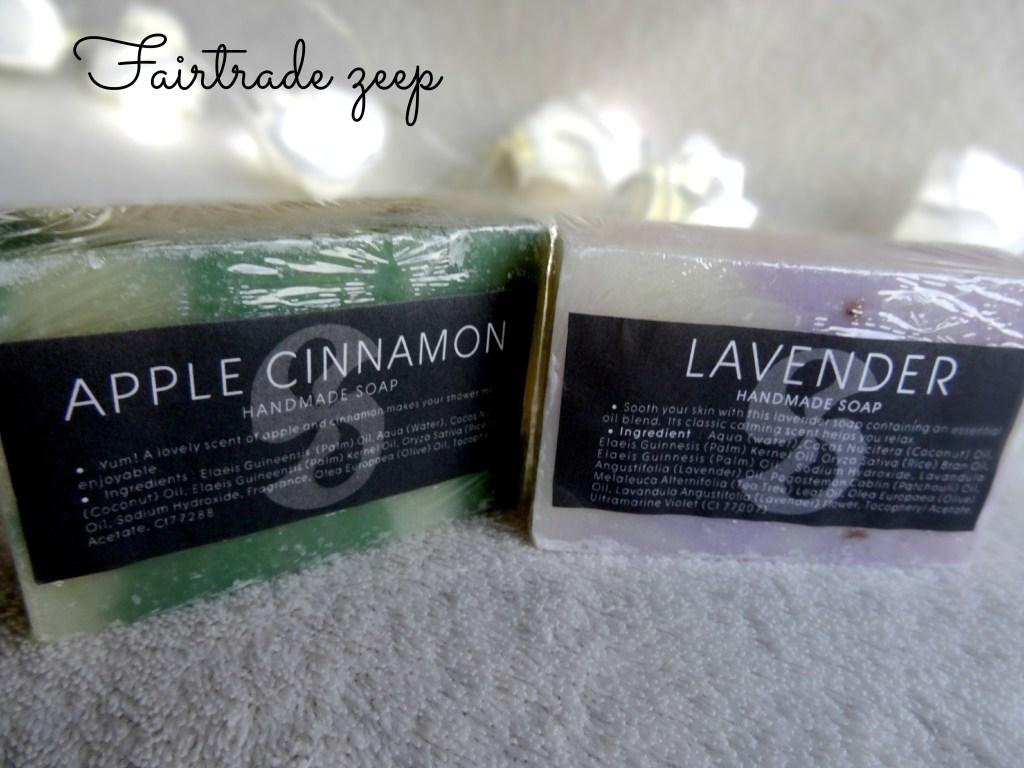Fairtrade zeep  Lavendel & appel kaneel