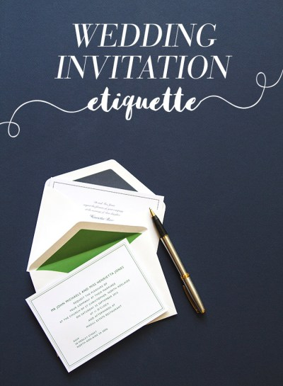 All You Need To Know About Wedding Invitation Etiquette ...