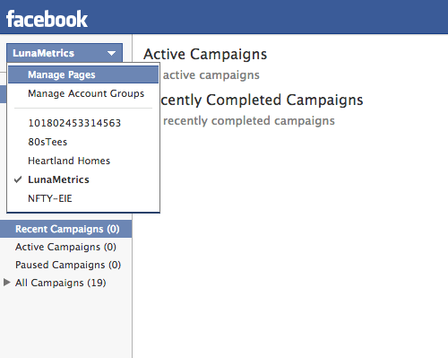manage facebook pages