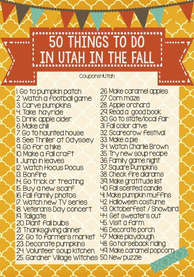 50 Things To Do In Utah In The Fall - You need this