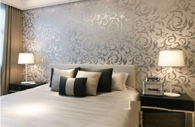 Wall Paper Designing Service - Living Room Wallpaper Design Service Architect / Interior Design ...