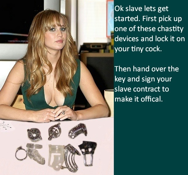 chastity humiliation captions