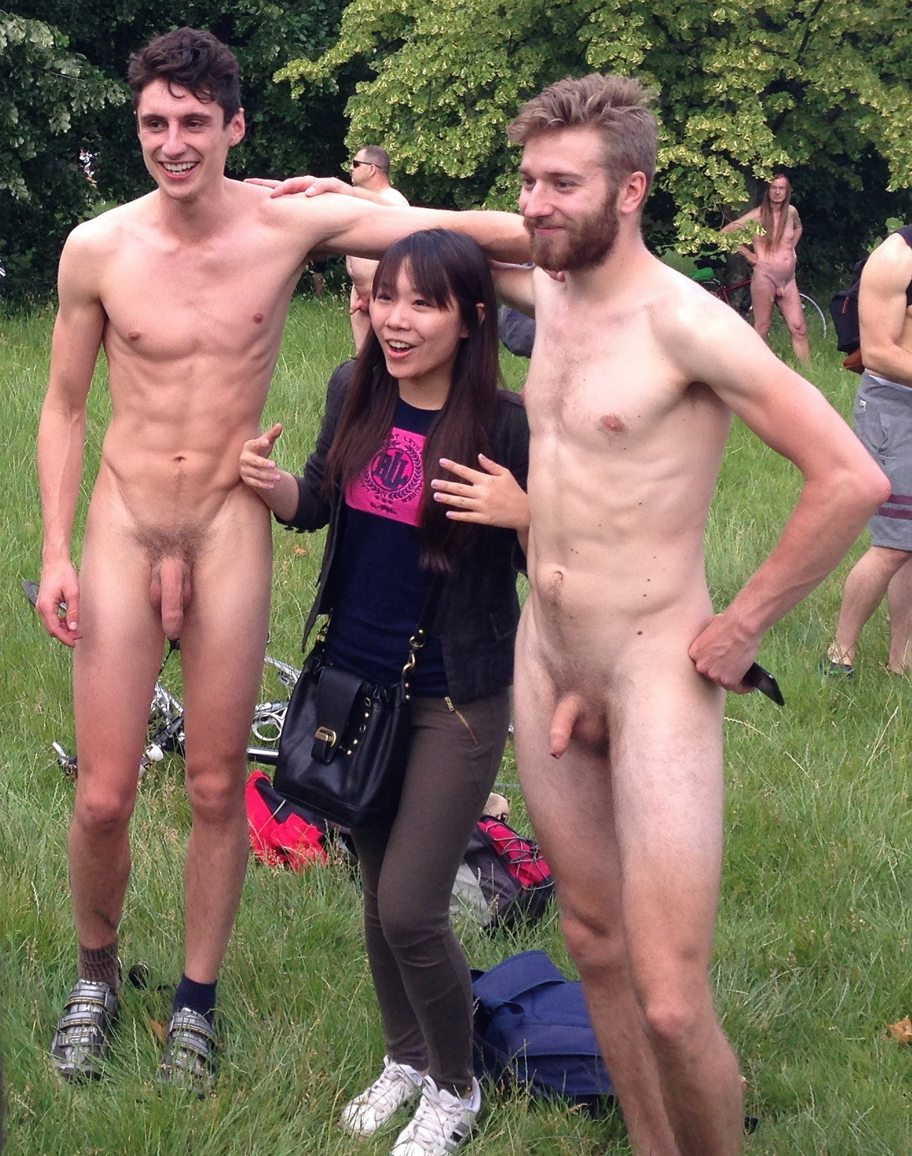girl surprised by dick in public