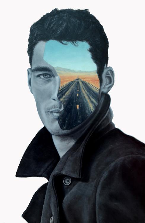 supersonicart:Beau Bernier Frank, Paintings. Artist Beau Bernier Frank is killing it with this series of paintings. Keep it up dude.