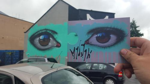 humanslikeme:  Awesome interactive piece by My Dog Sighs at Upfest 2015