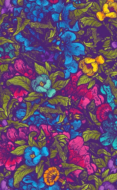 tumblr Cool Teen flower blue pink posted colour yellow colours backgrounds colores wallpapers ...