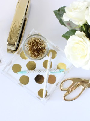 desk decor - gold details.