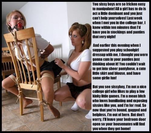 forced feminization captions butt plug