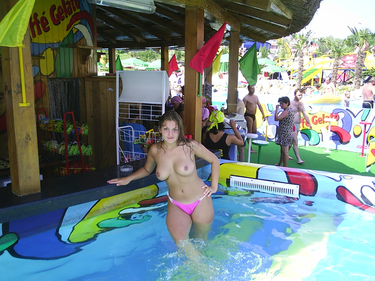 girls exposed at water parks