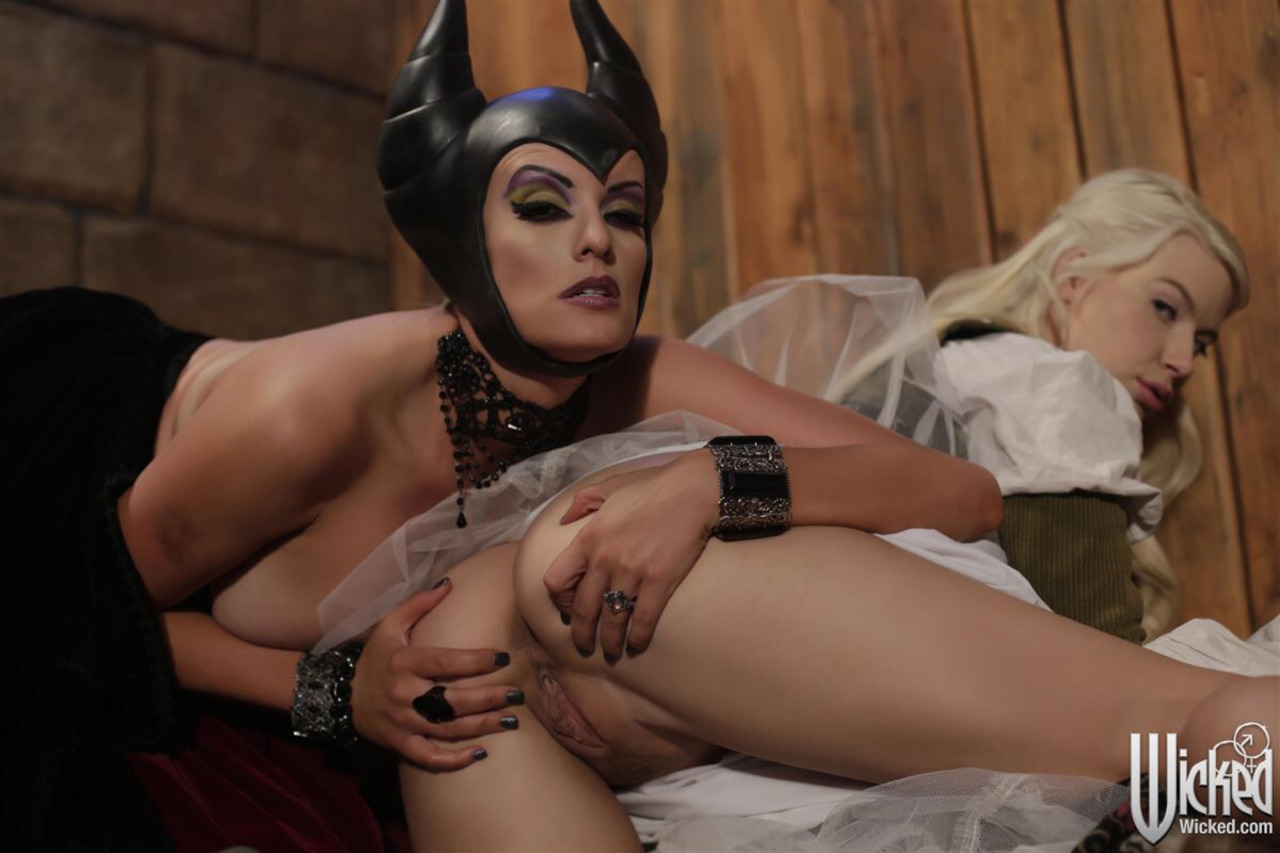 Anikka Albrite as Sleeping Beauty and Stormy Daniels as Maleficent