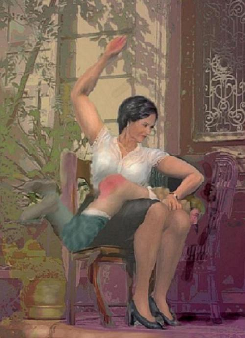 women spanking men cartoon sex