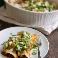 Vegetarian Enchiladas with Goat Cheese