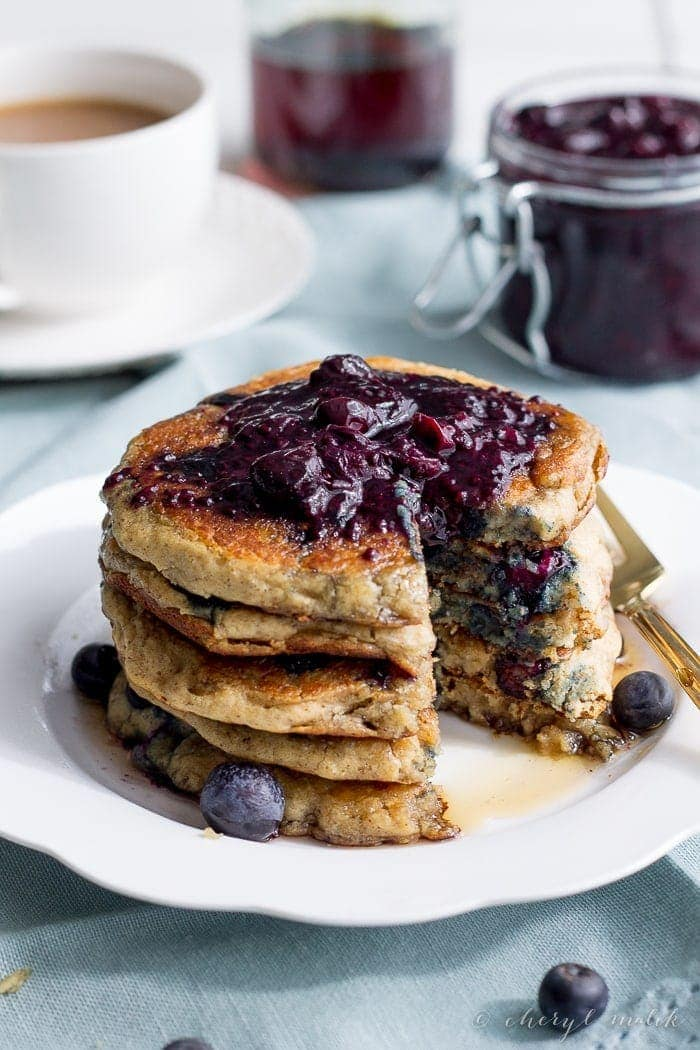 Blueberry Oatmeal Pancakes (Vegan, Gluten Free). Perfect, perfect, perfect