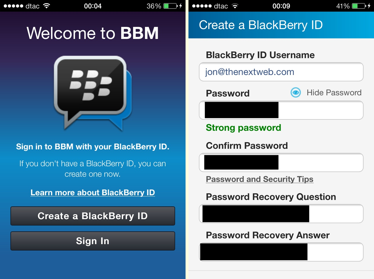 BBM for iOS and Android