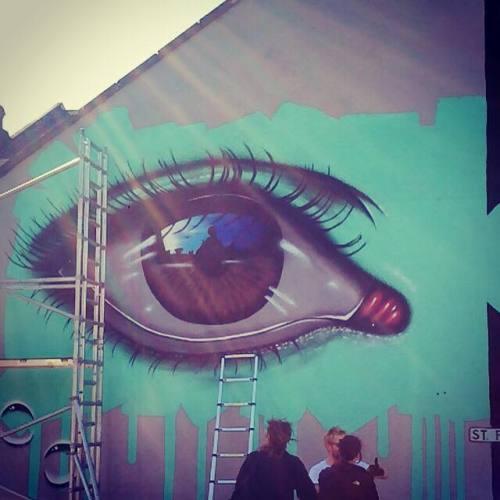 urbanartlab:   My Dog Sighs at work at Upfest - The Urban Paint Festival, Bristol