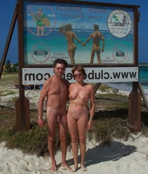 husband and wife posing naked
