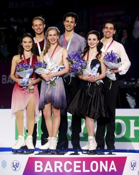 2015 GPF Ice dance medalists (x)