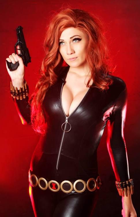 Lindsay Elyse as Black Widow (Marvel Comics)